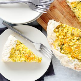 pumpkin feta and rice pie